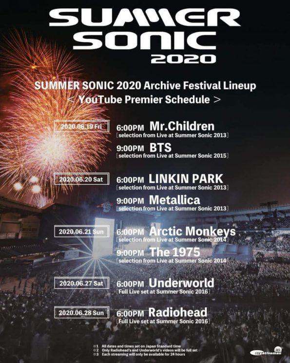 รวมอีเว้นท์ออนไลน์ - summer sonic 2020