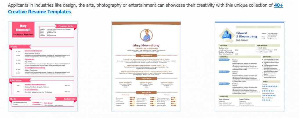 ออกแบบ resume