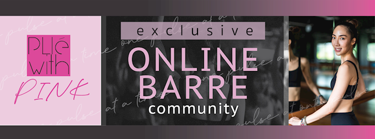 Plie with PINK : Exclusive Online Barre Community Zipevent