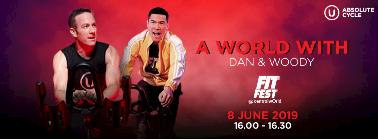 RHYTHM CYCLING : A WORLD WITH DAN & WOODY Zipevent