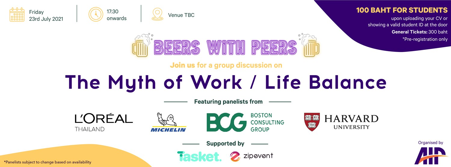 Beers with Peers: The Myth of Work/Life Balance  Zipevent