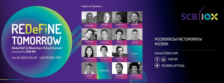 REDeFiNE TOMORROW - Global DeFi & Blockchain Virtual Summit powered by SCB 10X Zipevent