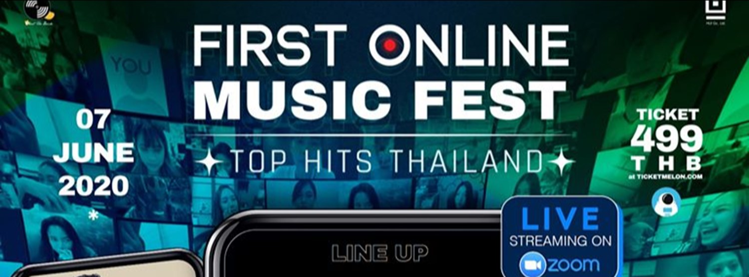 FIRST INTERACTIVE ONLINE MUSIC FESTIVAL: TOP HITS THAILAND Zipevent