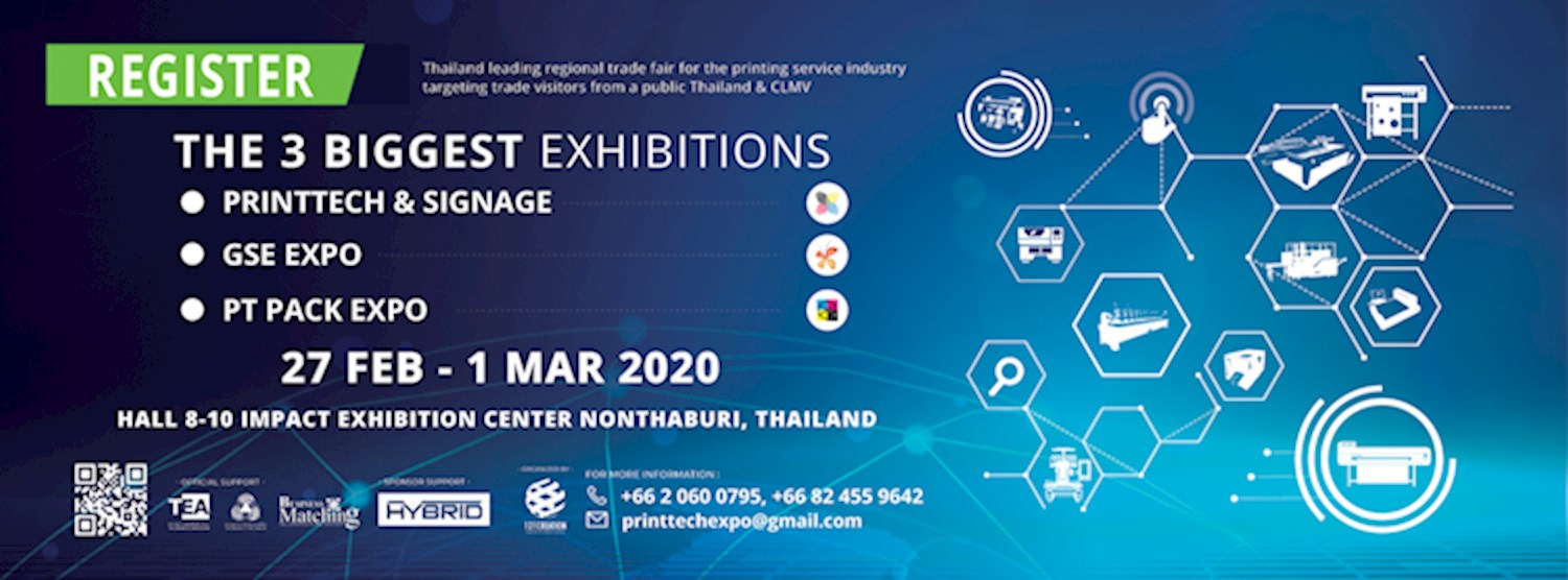 PRINTTECH & SIGNAGE, GSE EXPO, PT PACK EXPO 2020 Zipevent