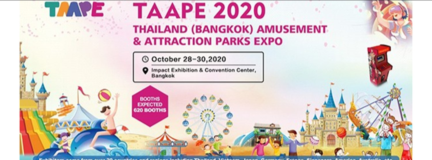 Thailand (Bangkok) Amusement and Attraction Parks Expo 2020 Zipevent